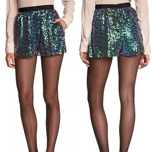 NWT BCBGeneration Teal & Purple Sequin Shorts